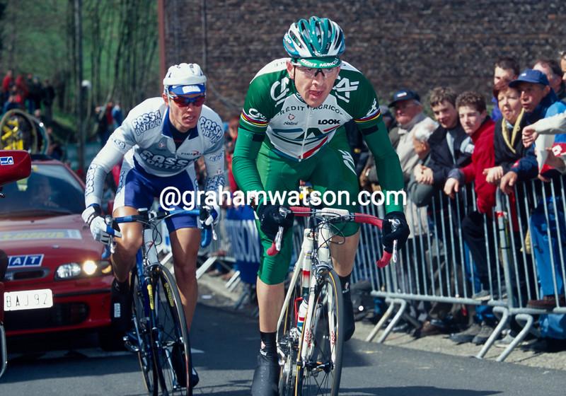 Chris Boardman in the 1999 Fleche Wallonne