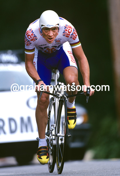 Chris Boardman in the 1996 Olympic Games