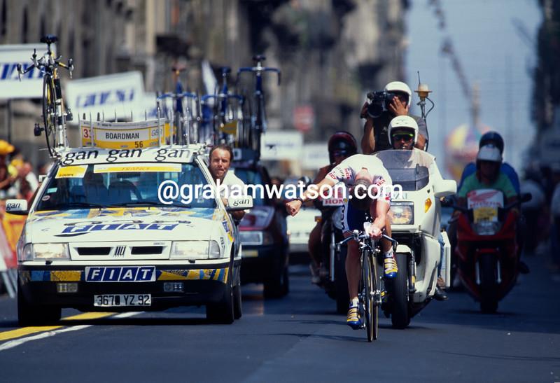Chris Boardman in the 1994 World TT Championship