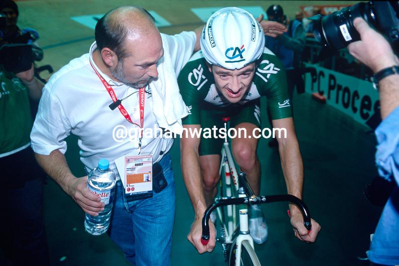 Chris Boardman in the 2000 World Track Championship