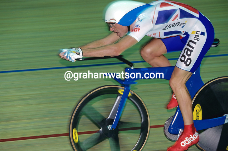 Chris Boardman in the 1996 World Track Championships