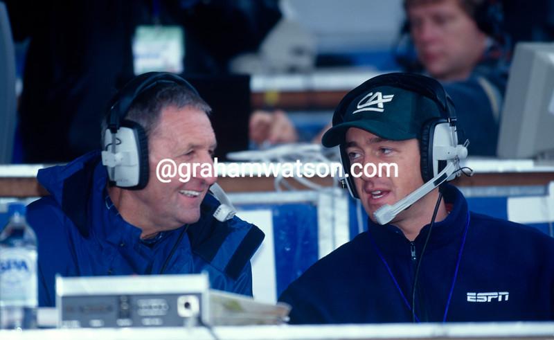 Chris Boardman and Hugh Porter in the 2000 World Track Championship