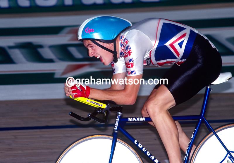 Chris Boardman in the 1992 World Track Championship