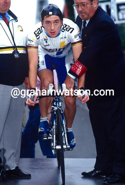 Chris Boardman in the 1993 Eddy Merckx G.P