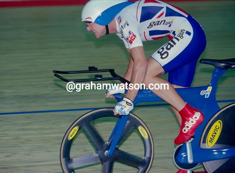 Chris Boardman in the 1996 World Track Championship
