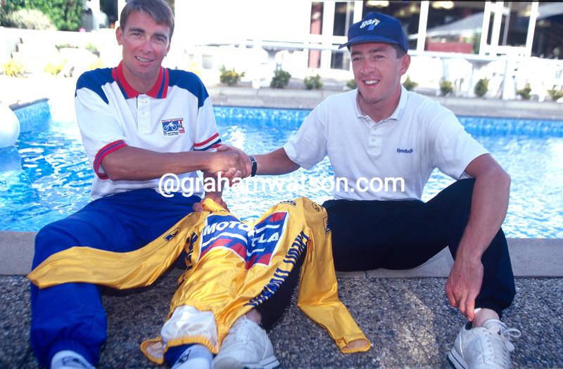 Chris Boardman and Sean Yates in the 1994 Tour de France