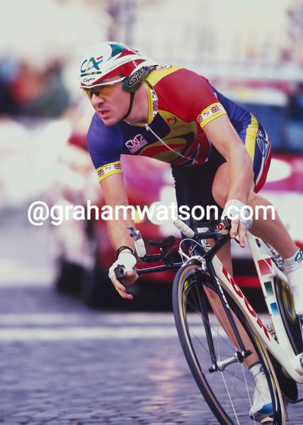 Chris Boardman in the 1999 World TT Championship
