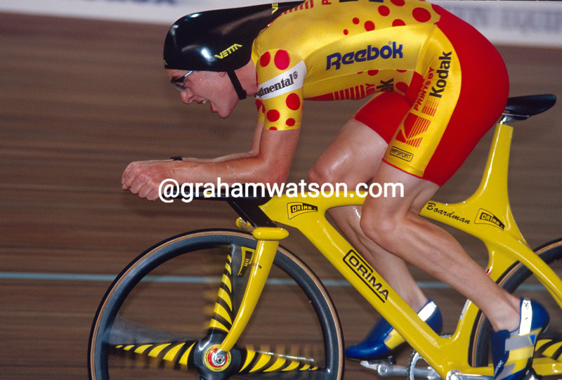 Chris Boardman in a 1993 Hour Record attempt