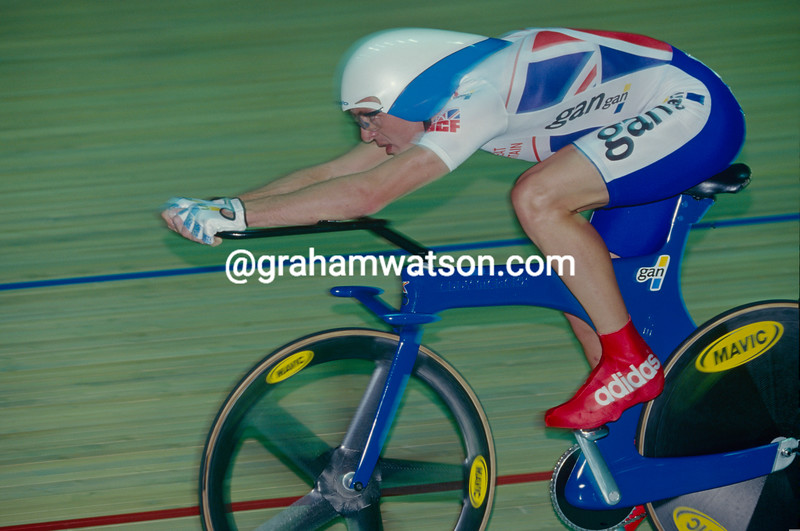 Chris Boardman in the 1996 World Track Championship