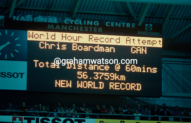 Chris Boardman beats the Hour Record in 1996
