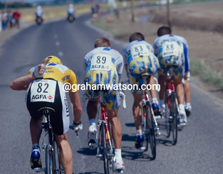 Chris Boardman and Gan in the 1994 Tour de France