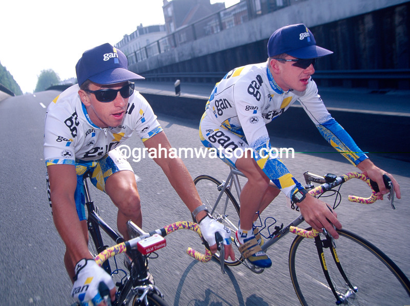 Greg Lemond and Chris Boardman in the 1994 Tour de France
