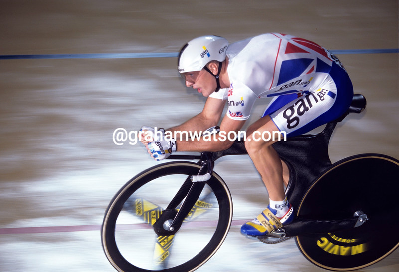 Chris Boardman in the 1994 World Track Championship