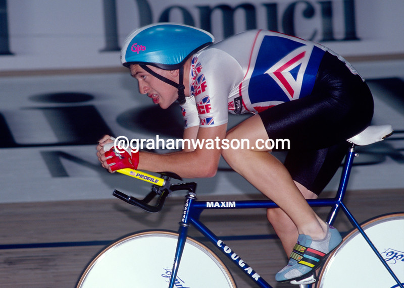 Chris Boardman in the 1991 World Track Championship