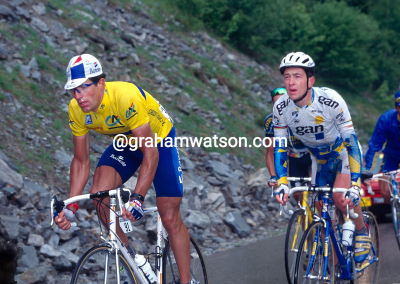 Miguel Indurain and Chris Boardman in the 1995 Dauphine-Libere