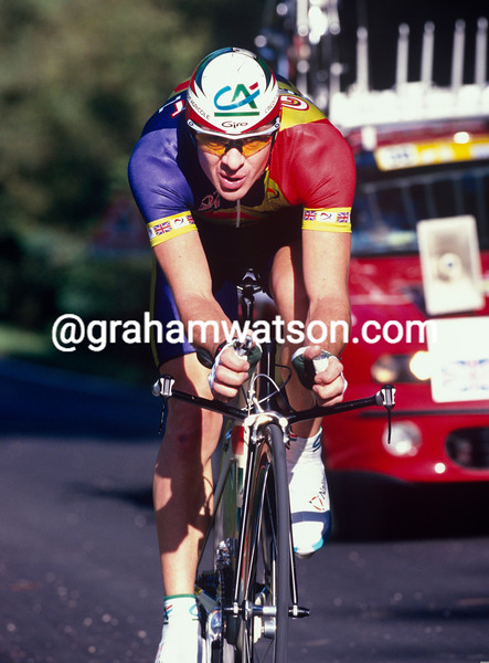 Chris Boardman in the 1997 World TT Championship