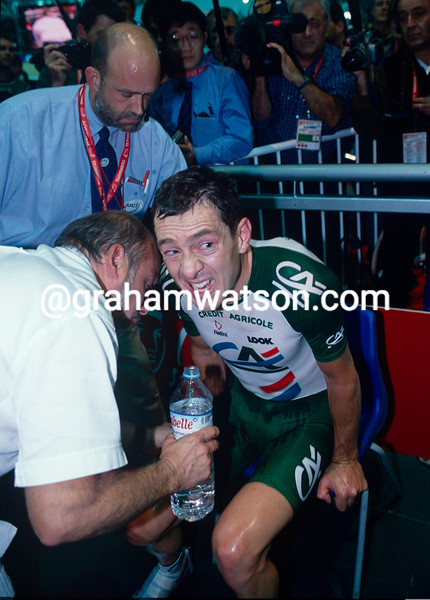 Chris Boardman after his 2000 Hour record attemot in Manchester