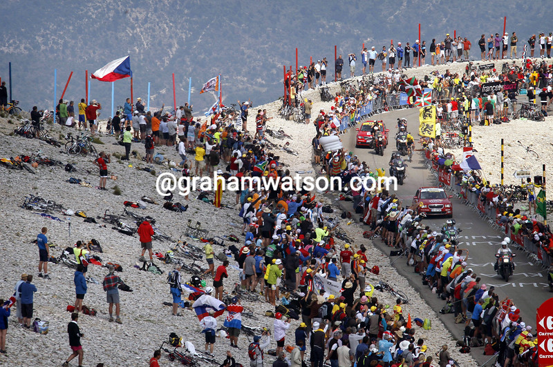 Chris Froome on climbs to victory on Mont Ventoux on stage fifteen of the 2013 Tour de France