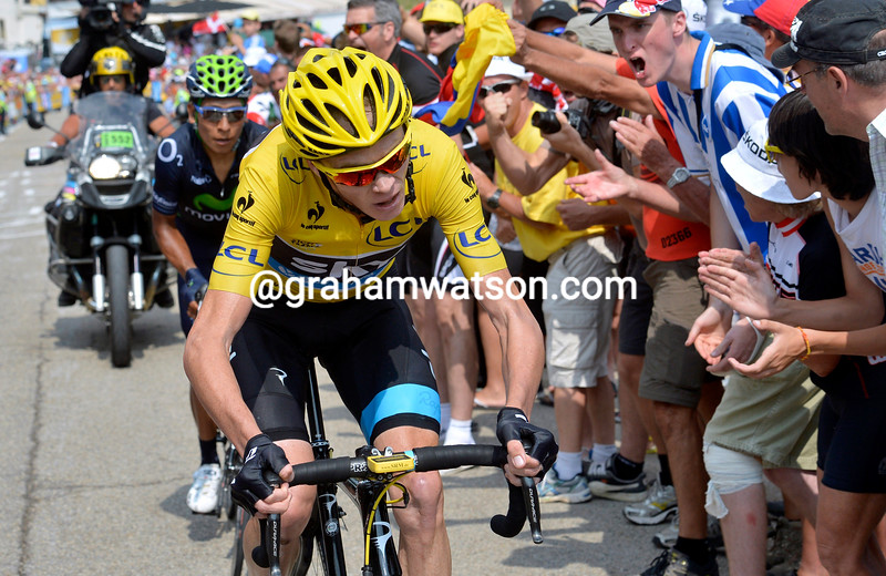 Chris Froome and Quintana on stage fifteen of the 2013 Tour de France