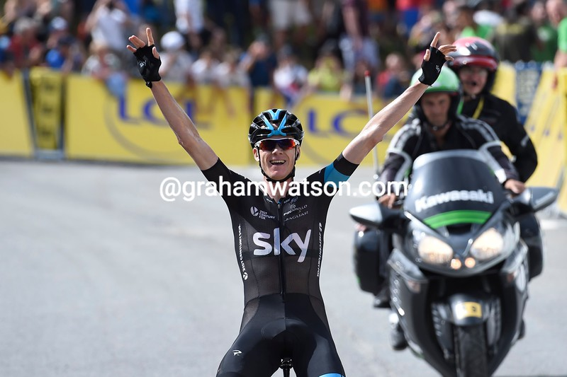 Chris Froome wins Stage 7 of the 2015 Dauphine-LIbere