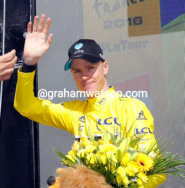 Chris Froome on stage 12 of the 2016 Tour de France