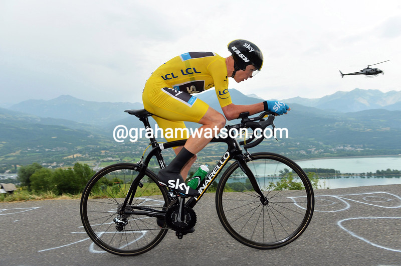 Chris Froome on stage seventeen of the 2013 Tour de France