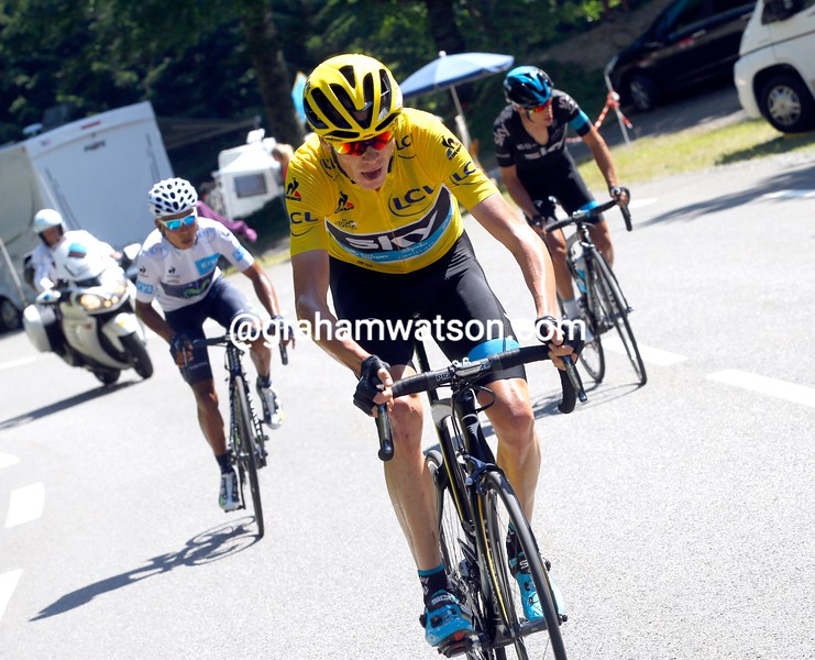 Chris Froome attacks on stage ten of the 2015 Tour de France