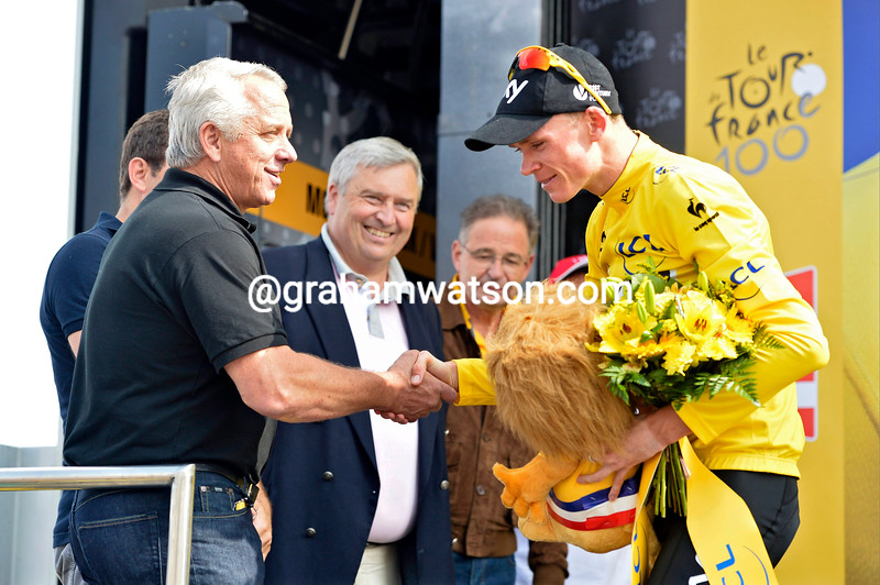 Chris Froome and Greg LeMond on stage fifteen of the 2013 Tour de France