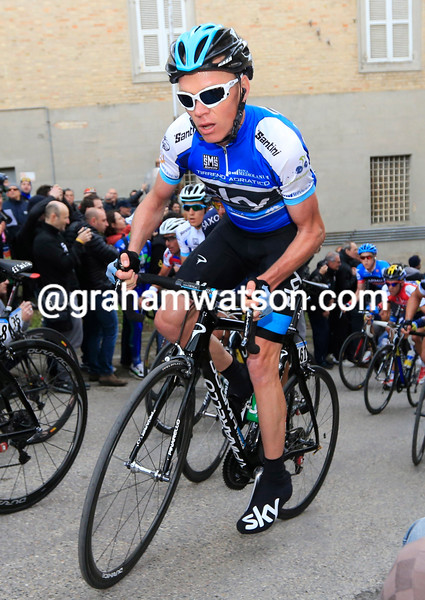 Chris Froome on stage six of Tirreno-Adriatico
