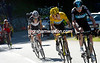 Chris Froome leads Bradley Wiggins on stage eleven of the 2012 Tour de France