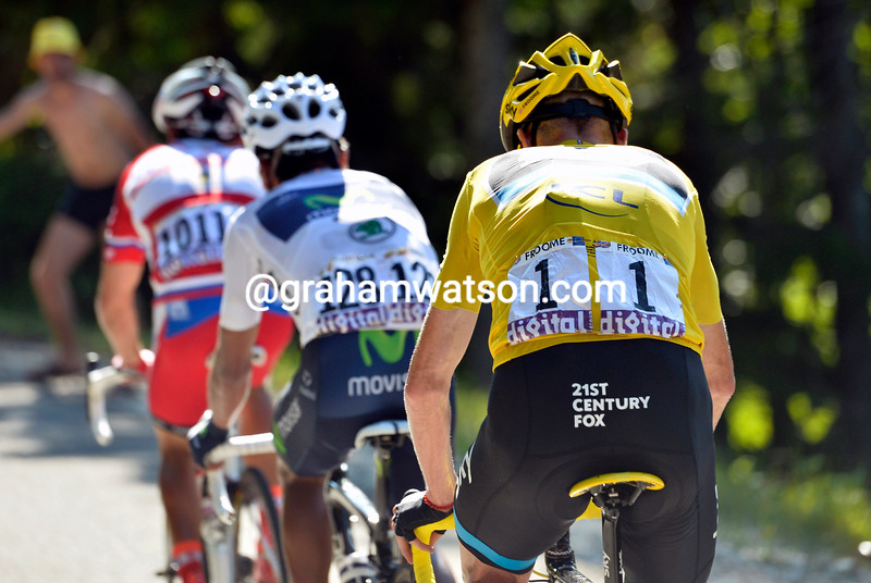 Chris Froome on stage twenty of the 2013 Tour de France