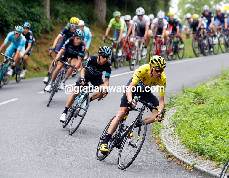 Chris Froome on stage 10 of the 2016 Tour de France