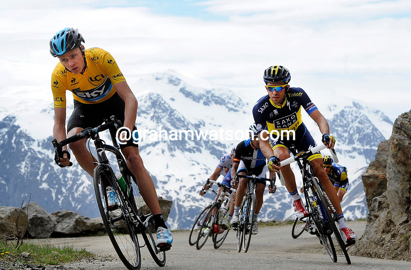 Chris Froome on stage seven of the 2013 Dauphine-LIbere