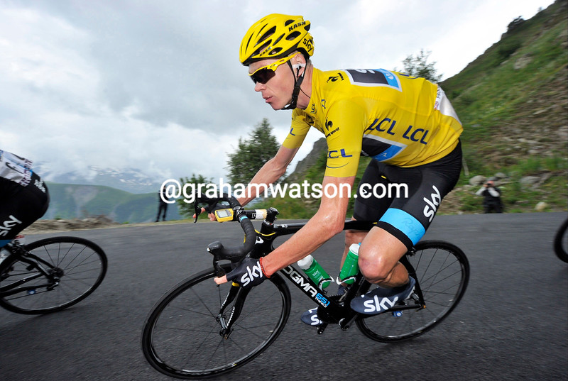 Chris Froome on stage eighteen of the 2013 Tour de France