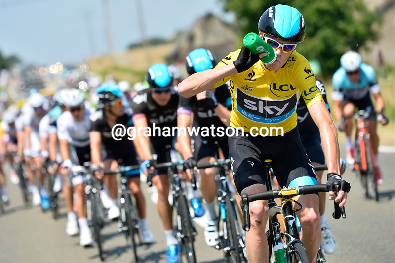 Chris Froome on stage twelve of the 2013 Tour de France