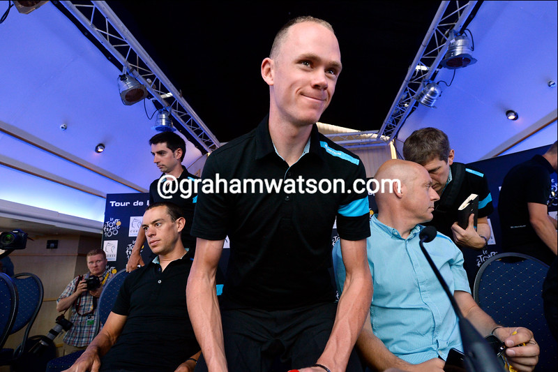 Chris Froome before the 2013 Tour de France