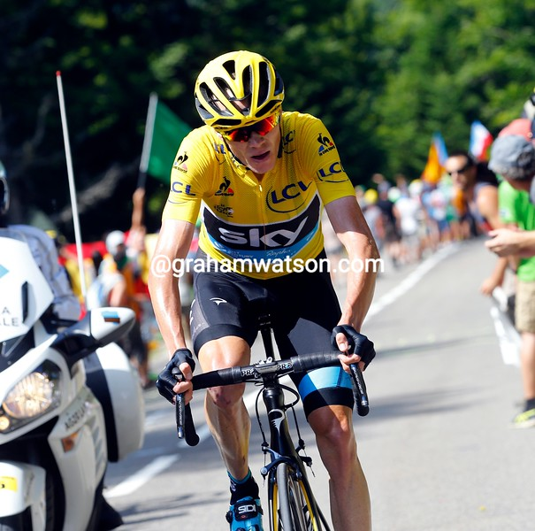 Chris Froome on stage ten of the 2015 Tour de France