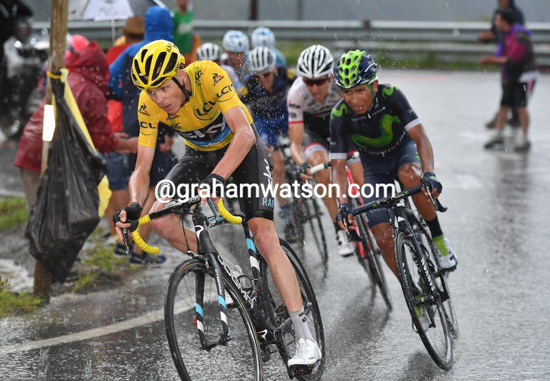 Chris Froome on stage nine of the 2016 Tour de France
