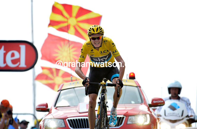 Chris Froome wins stage fifteen of the 2013 Tour de France