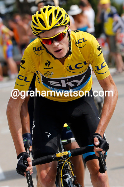 Chris Froome on stage fifteen of the 2013 Tour de France