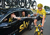Chris Froome with Dave Brailsford on stage twenty one of the 2013 Tour de France