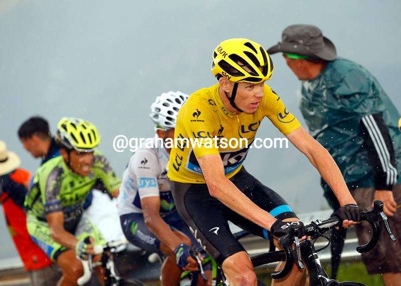 Chris Froome on stage twelve of the 2015 Tour de France