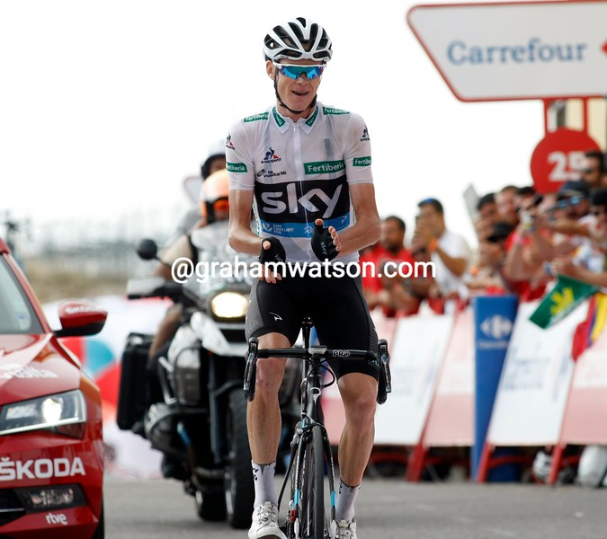 Chris Froome on stage 20 of the 2016 Vuelta a España
