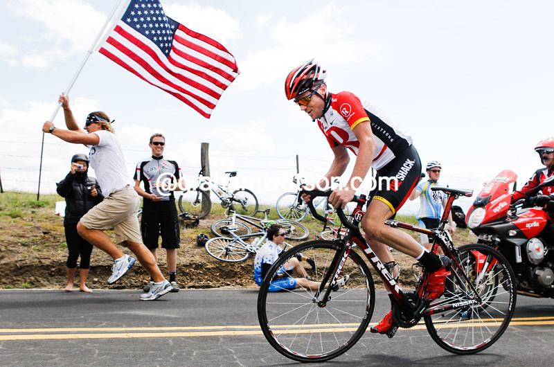Chris Horner races to victory on stage four of the 2011 Tour of California (photo by Mark Gunter)