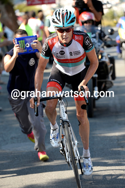 Chris Horner on stage ten of the 2013 Tour of Spain
