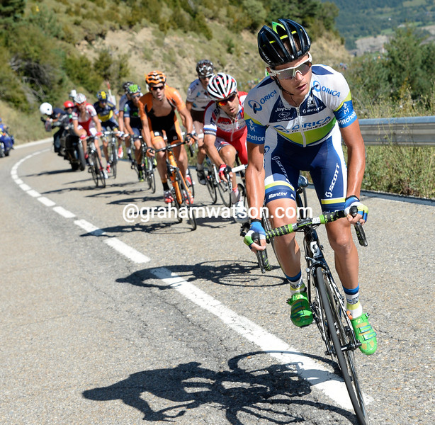Christian Meier on stage sixteen of the 2013 Tour of Spain