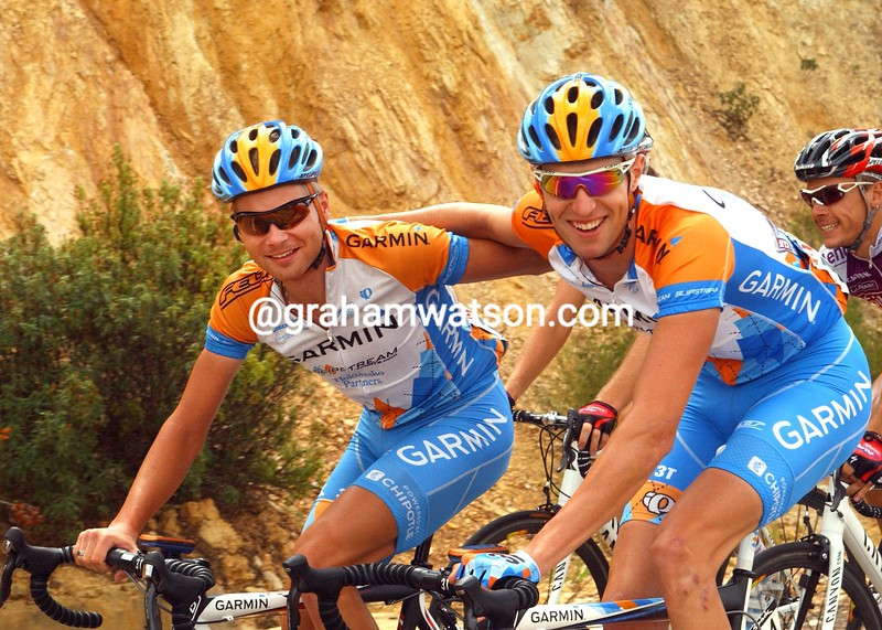 RYDER HESJEDAL AND CHRISTIAN MEIER IN THE 2009 TOUR OF SPAIN