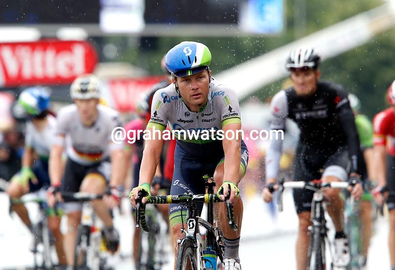 Christian Meier on stage nineteen of the 2014 Tour de France