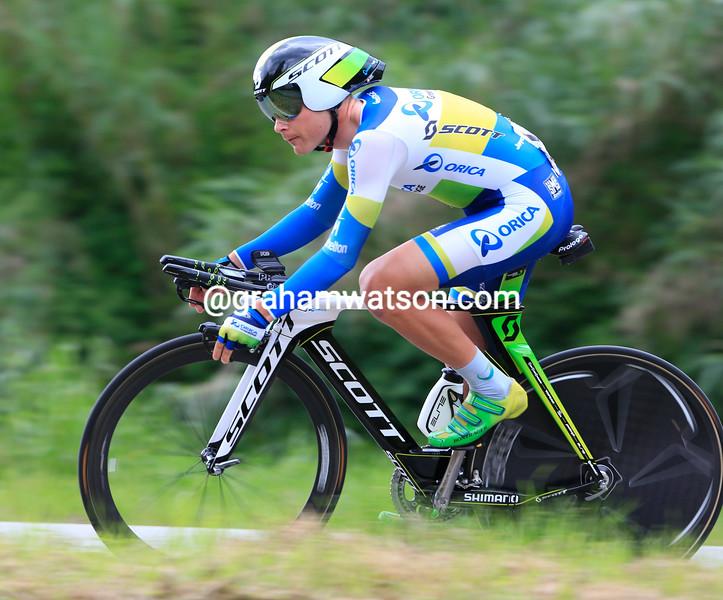 Christian Meier on stage eight at the 2013 Giro d'Italia