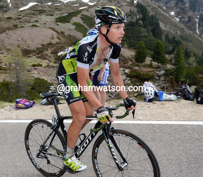 Christian Meier on stage nineteen of the 2012 Giro d'Italia